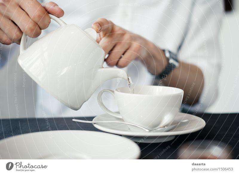 Wasser für Tee Getränk Heißgetränk Becher Löffel Lifestyle elegant Stil Design Freude Leben harmonisch Freizeit & Hobby Abenteuer Freiheit Häusliches Leben