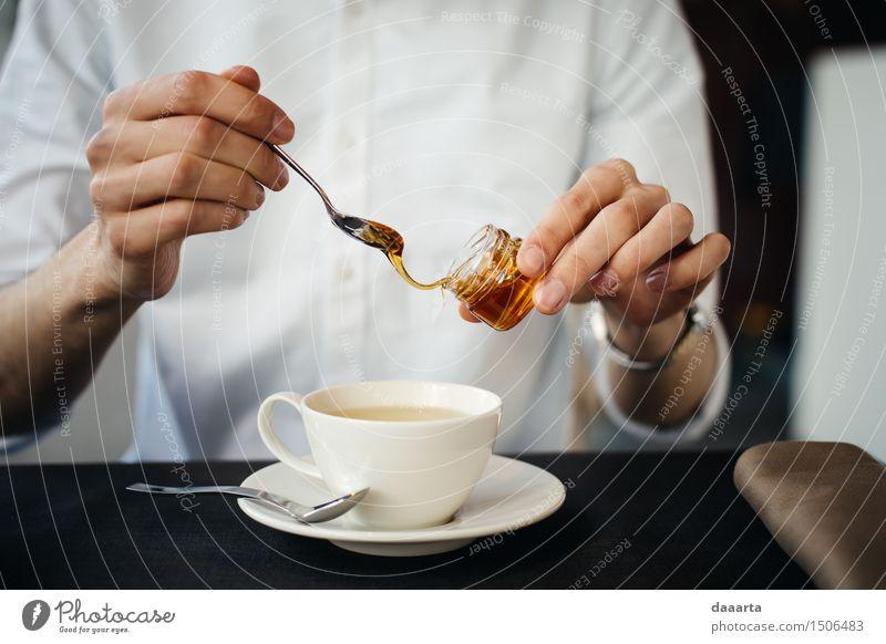 Winter: Zugabe von Honig Erholung Freude Leben Gefühle Stil Lifestyle Feste & Feiern Freiheit Lebensmittel Stimmung Design Freizeit & Hobby elegant Tisch