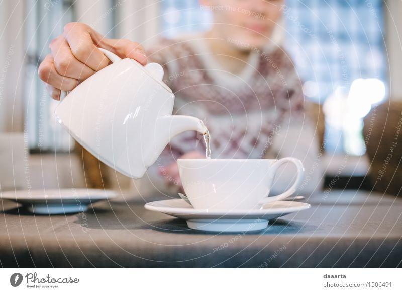 Teezeit Getränk trinken Heißgetränk Wasser Lifestyle elegant Stil Design Freude Leben harmonisch Freizeit & Hobby Spielen Ausflug Abenteuer Freiheit Tisch Küche