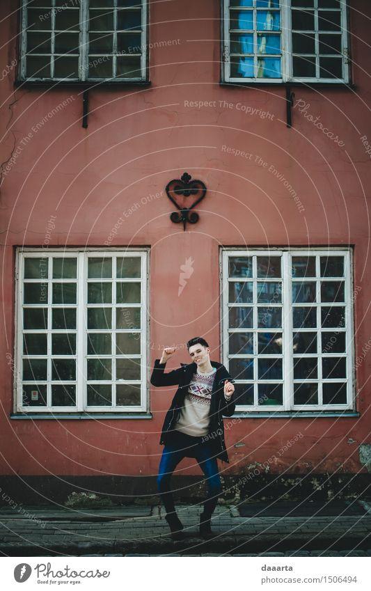 Straßentanzen Haus Freude Fenster Leben lustig Stil Spielen Lifestyle Feste & Feiern Freiheit Stimmung Design maskulin wild Freizeit & Hobby elegant