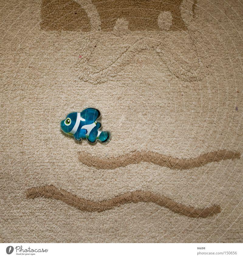 Nemo in blau Freude Stil lustig Schwimmen & Baden Kindheit Dekoration & Verzierung Lifestyle Fisch Kitsch trocken Tierfigur Badematte