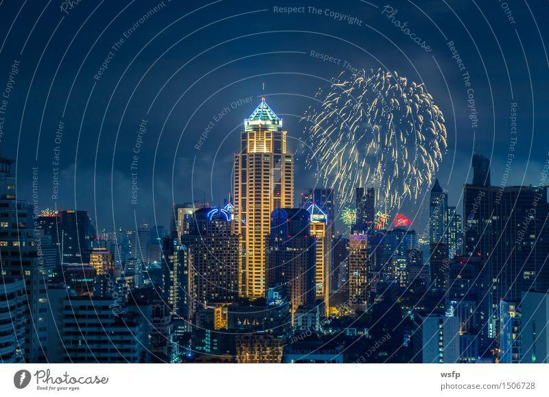Bangkok silvester skyline bei nacht panorama Silvester u. Neujahr Büro Stadt Stadtzentrum Skyline Hochhaus Architektur Feste & Feiern Feuerwerk Beleuchtung