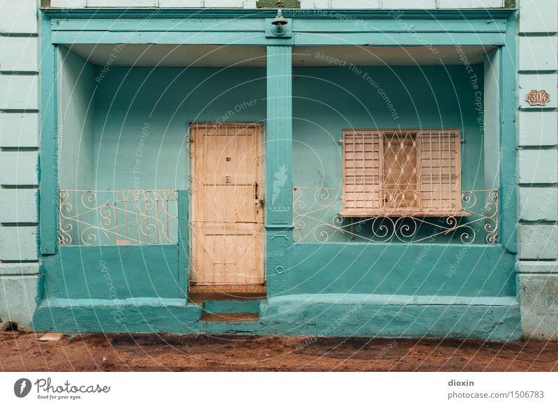 cuban colours [3] Ferien & Urlaub & Reisen Stadt Haus Ferne Fenster Wand Gebäude Mauer Tourismus Tür authentisch Bauwerk Hauptstadt Stadtzentrum Städtereise