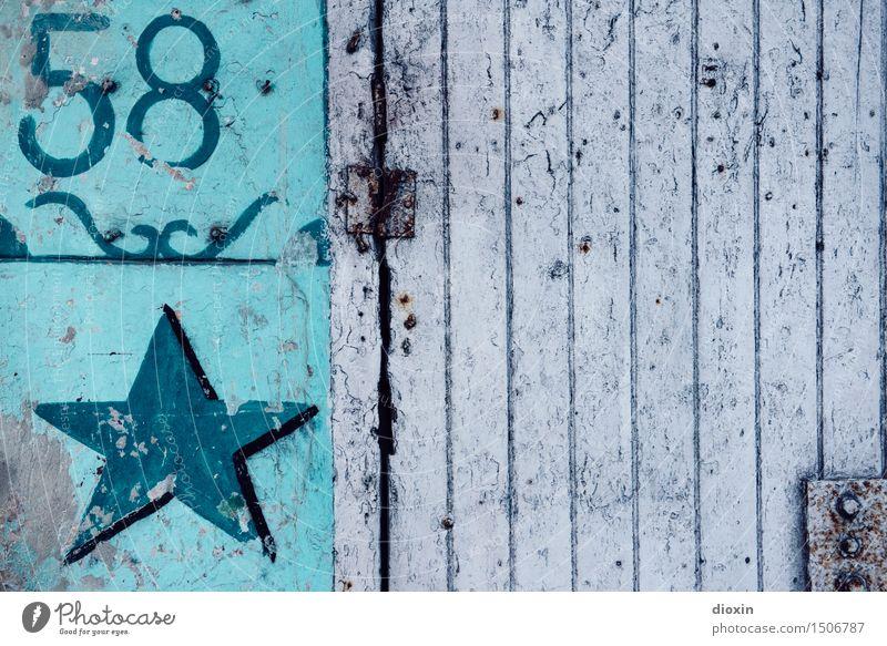 58 Stadt alt Haus Wand Gebäude Mauer Tür authentisch Stern (Symbol) Ziffern & Zahlen Hauptstadt Stadtzentrum Altstadt Kuba Hafenstadt Südamerika