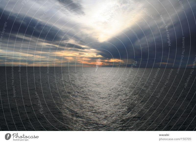 Himmel Sonne Meer Wolken Hintergrundbild Tapete Skandinavien