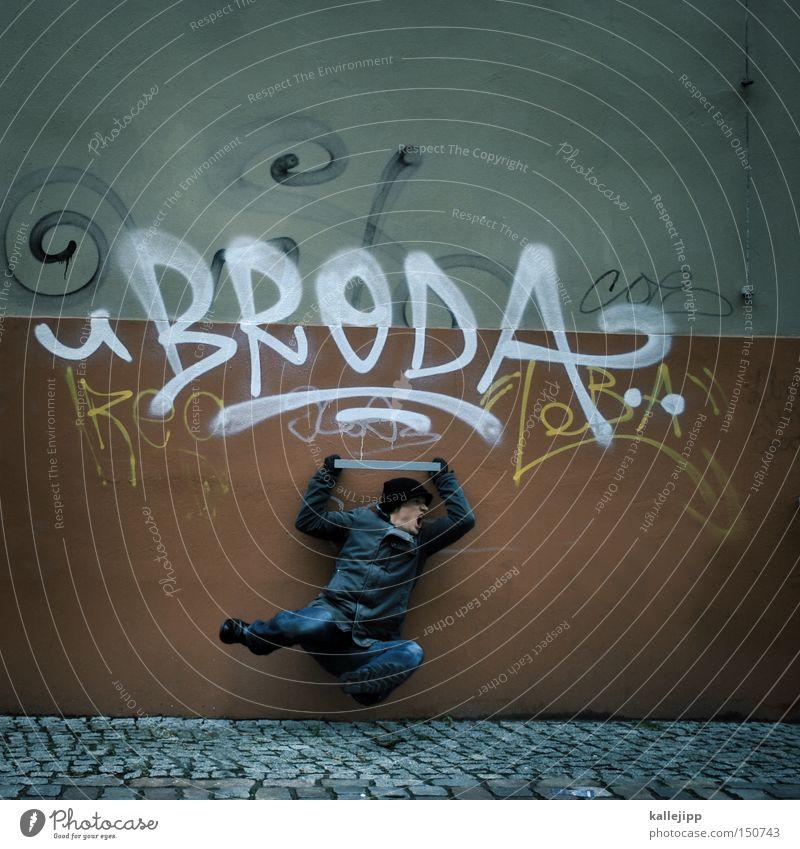 bruderkampf Mensch Mann Stadt Graffiti fliegen Fliege Luftverkehr kämpfen Kampfsport Karate Ninja chinesische Kampfkunst