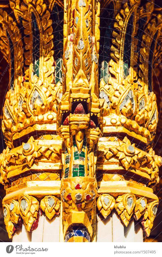 Traditionelle Thai-Stil Dekoration schön Sonne rot schwarz Architektur Religion & Glaube Stein Erde Arbeit & Erwerbstätigkeit Design Stahl Statue Gott Indien