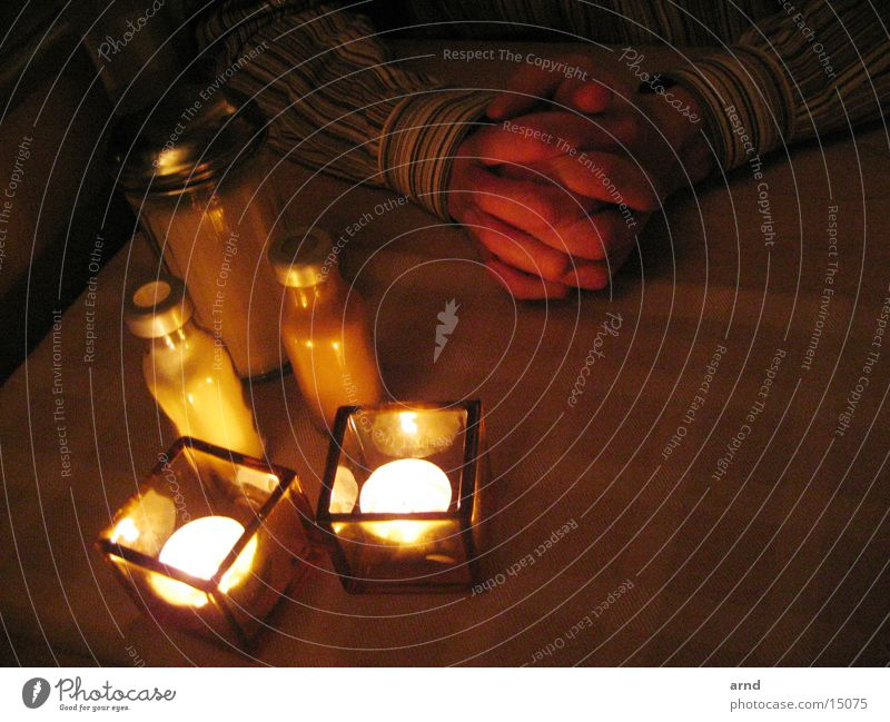 händelicht Tisch Restaurant Dekoration & Verzierung Kerze Licht Hand gefaltet
