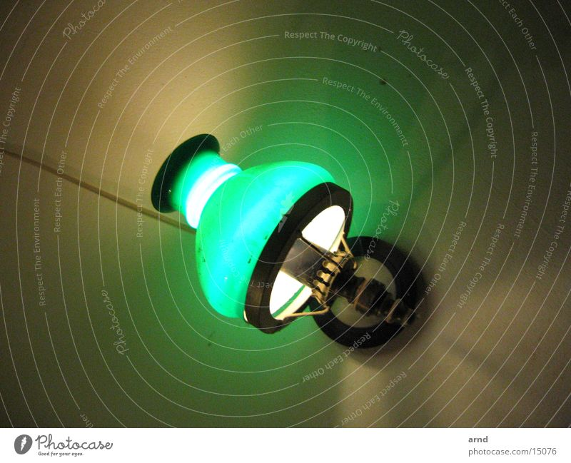 hof-lampe grün Lampe verrückt Häusliches Leben Regenschirm