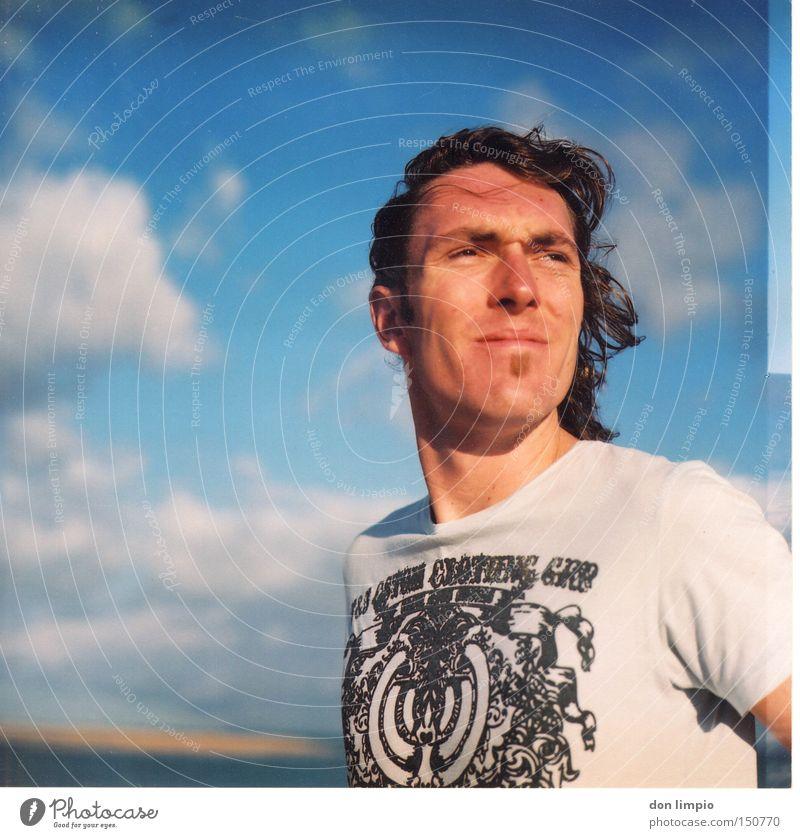 last farewell Mensch Mann Sommer Strand Porträt analog Mittelformat
