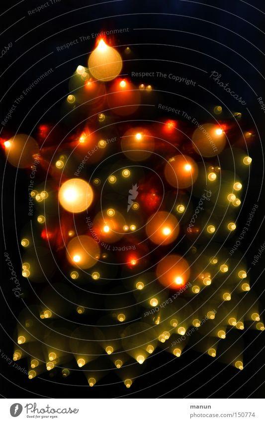 Sternenhimmel Weihnachten & Advent rot gelb Lampe Stern (Symbol) Silvester u. Neujahr Feuerwerk Feiertag festlich Explosion Lichtpunkt