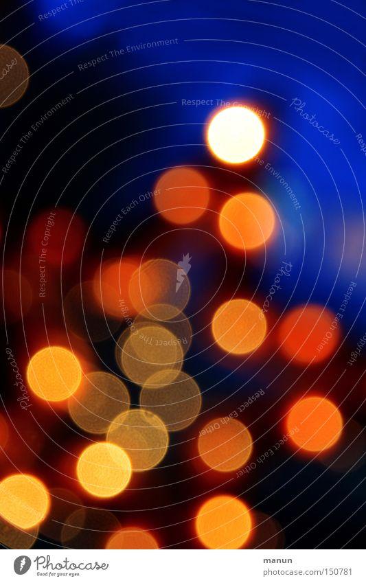 shining festlich Lichtpunkt abstrakt rot gelb blau Feuerwerk Feste & Feiern Lampe