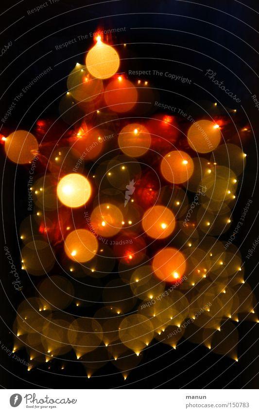Sternenhimmel II Weihnachten & Advent festlich Silvester u. Neujahr Lichtpunkt abstrakt rot gelb Feuerwerk Explosion Feiertag Lampe Stern (Symbol)