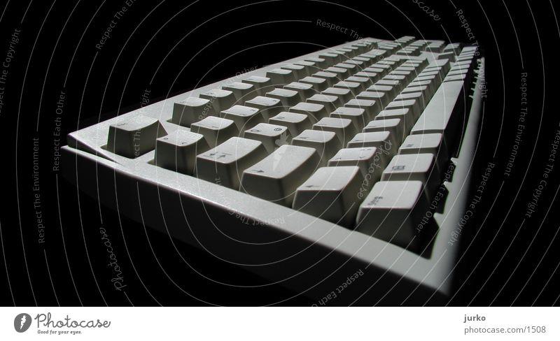 Keyboard B&W Elektrisches Gerät Technik & Technologie Schwarzweißfoto Makroaufnahme Tastatur