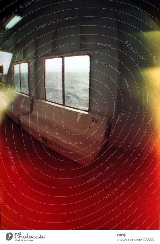 Fähre Lomografie Licht Wasserfahrzeug Meer Fenster Fischauge Belichtung analog Güterverkehr & Logistik Schifffahrt Farbe mehrfarbig flash Videokamera