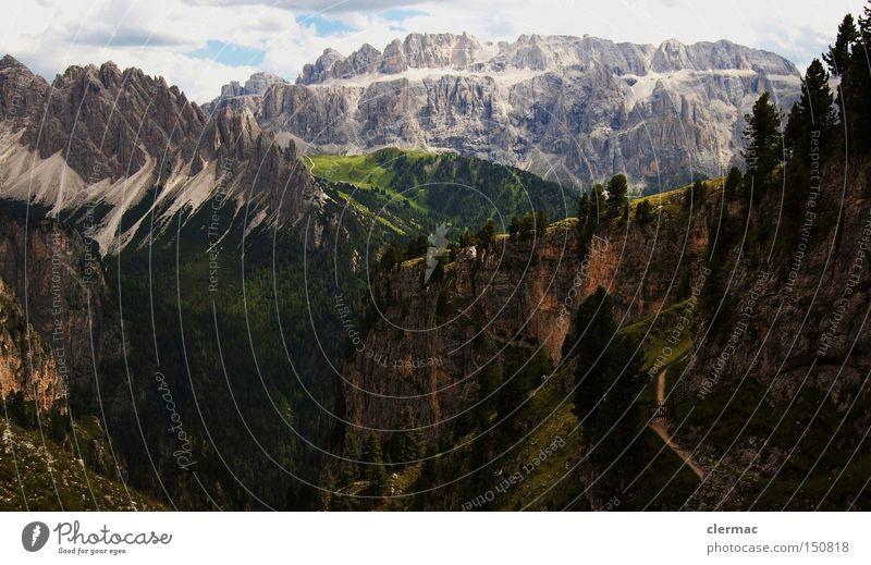 dolomiten cir und sella Ferien & Urlaub & Reisen Wiese Berge u. Gebirge wandern Italien Klettern Alpen Bergsteigen Alm
