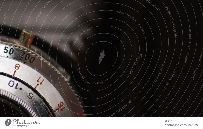 old school Fotokamera Objektiv retro Mittelformat Rollfilm Blende analog Linse alt Einstellungen Fotografie Fotografieren Technik & Technologie