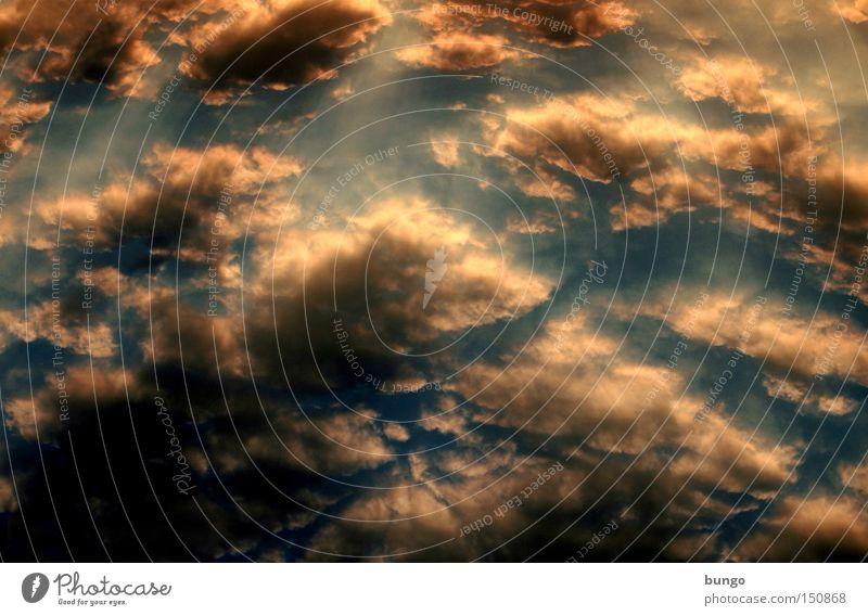cumulus Wolken Himmel Sonnenuntergang Romantik dunkel Abend Nacht Natur Schaffung ästhetisch Stimmung Atmosphäre Watte weich