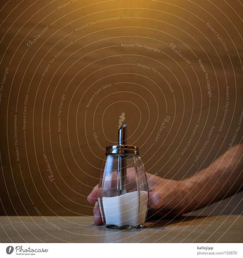 feststoffrakete Tisch Zucker Dose Café Restaurant Gastronomie süß Energie Glas Behälter u. Gefäße Hand Kellner Süßwaren streuer süssungsmittel Tischplatte