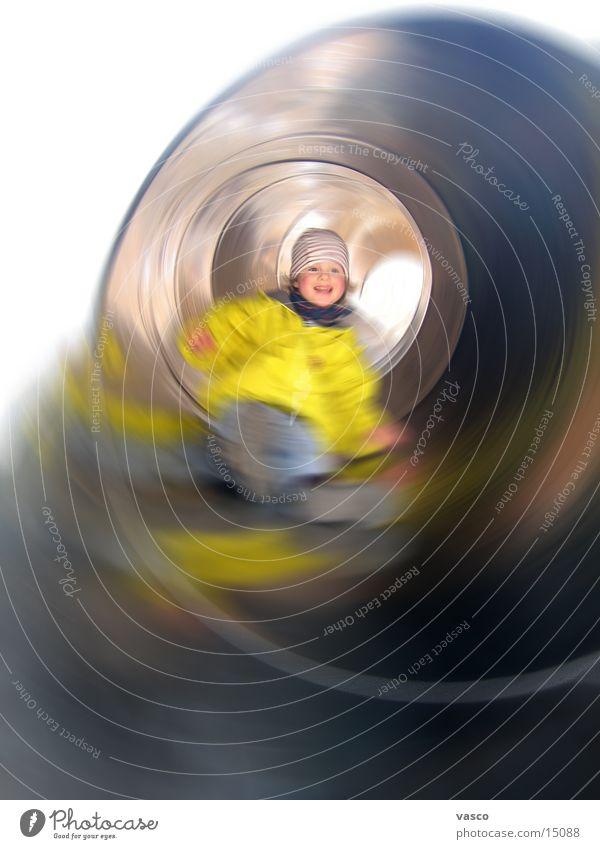 Ri-Ra-Rutsch Mensch Kind Mädchen Spielen lachen Spielplatz Rutsche