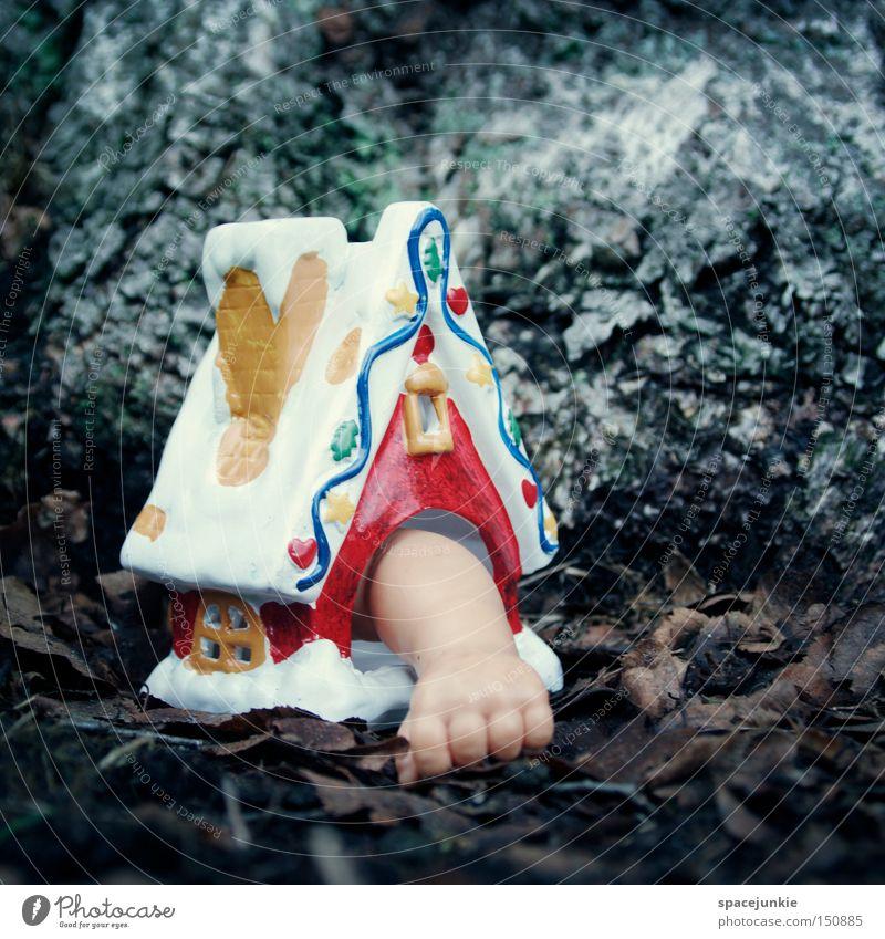 Last christmas Weihnachten & Advent Hand Freude Haus Schnee Gebäude Hütte Puppe eng skurril gefangen Zucker Backwaren Miniatur Spielzeug Zuckerguß