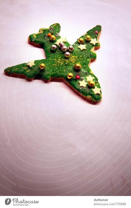 Rosinenbomber Weihnachten & Advent grün fliegen Dekoration & Verzierung Luftverkehr Flugzeug süß Stern (Symbol) Kuchen Backwaren Perle Plätzchen Krümel Geschmackssinn Lebensmittel