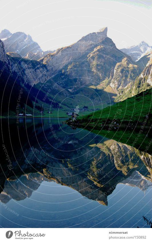 Alpen Spiegel Wasser Berge u. Gebirge See Schweiz Alpen Spiegel Alpen Alpen Schifffahrt