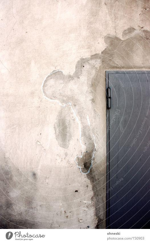 Formwandler Wand Tür Wasserfleck Kreide Gemälde Putz Jahrhunderthalle Beton Bochum Industrie Graffiti Wandmalereien Zeichnung Westpark Kreidezeichnung