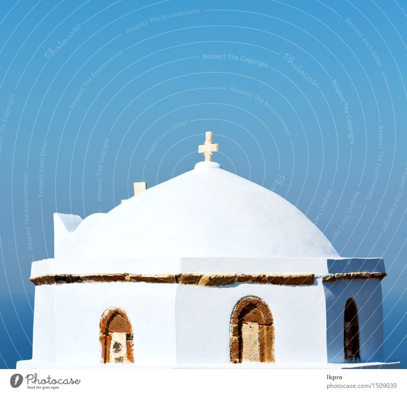 alte Konstruktion und der Himmel Ferien & Urlaub & Reisen blau schön Farbe Sommer weiß Landschaft schwarz Architektur Religion & Glaube Gebäude Kunst hell