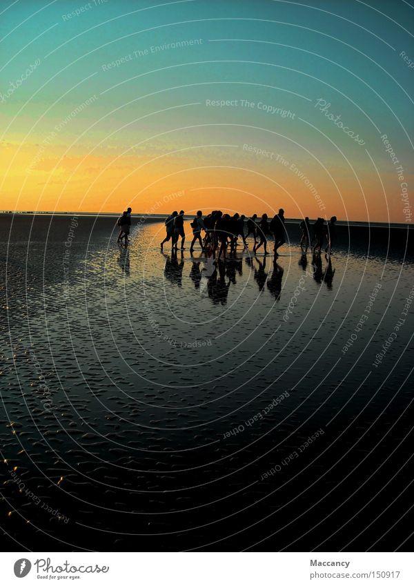 tightrope walk Meer Strand Küste Horizont Fluss Frieden Frankreich Überqueren Farbübergang