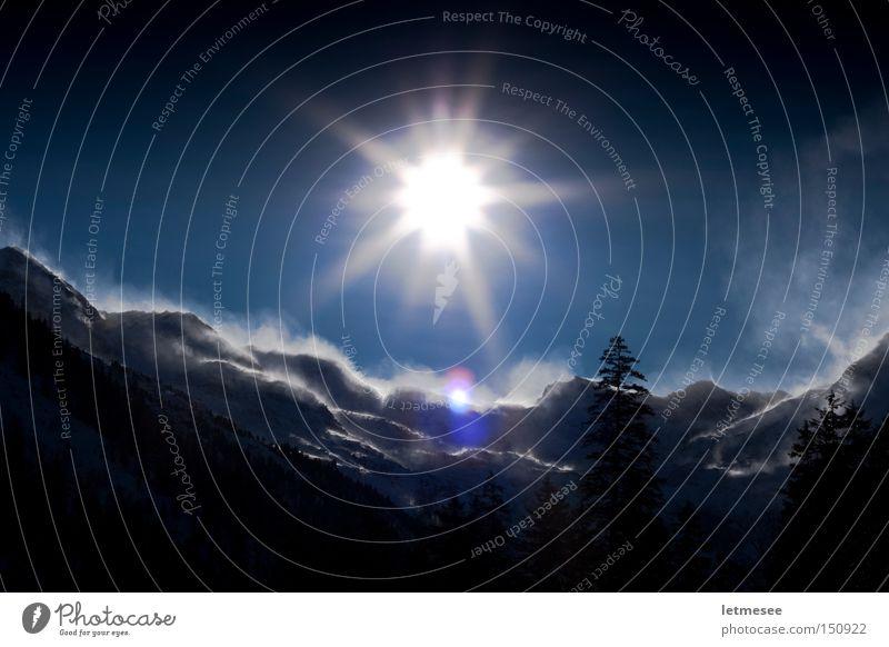 Felbertauern die Dritte Baum Sonne Winter Wald Schnee Berge u. Gebirge Beleuchtung Wind Sturm Wechte