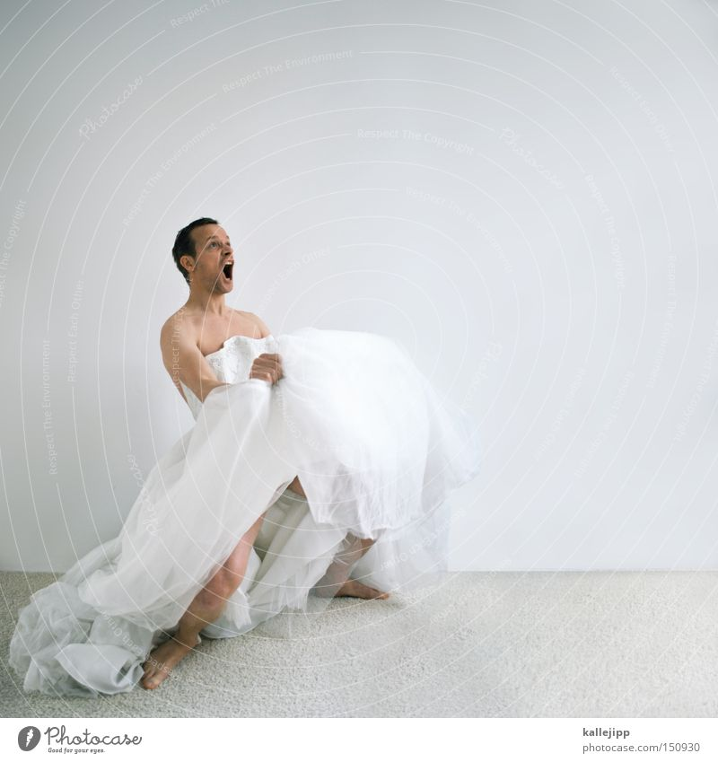 brautschau Frau Mann Freude sprechen Tänzer Tanzen Tanzveranstaltung verrückt Kleid Ferien & Urlaub & Reisen skurril schreien Überraschung Humor Ring Braut