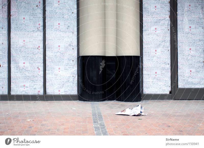23 [zu] geschlossen Afrika Werbung Dienstleistungsgewerbe Ladengeschäft Kopfsteinpflaster Säule Pflastersteine Schaufenster Glasfassade Ladenfront