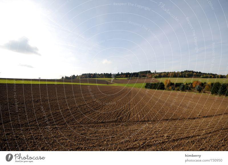 bauer sucht traktor Feld Landwirtschaft ökologisch Bioprodukte Biologische Landwirtschaft Ackerbau Aussaat Getreide Landschaft Natur Erde Herbst Jahreszeiten