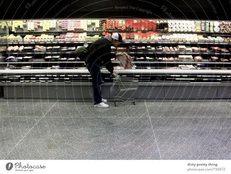 lecka lappen Markt Theke kaufen Appetit & Hunger Fleisch Supermarkt Einkaufswagen Putztuch Kühltheke