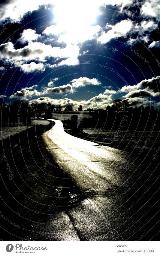 Flowing Street Himmel Sonne Wolken Straße Wege & Pfade glänzend