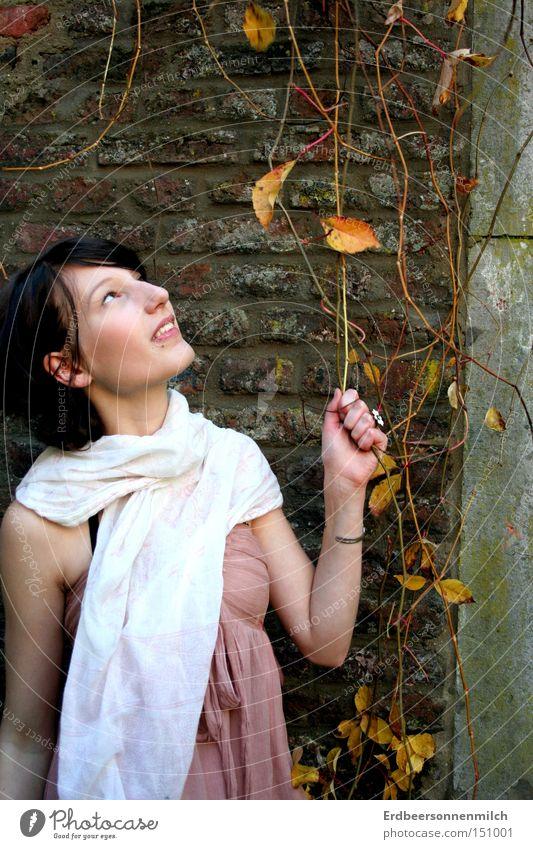 Ein bisschen Herbst für euch Freude Blatt Glück lachen Jahreszeiten