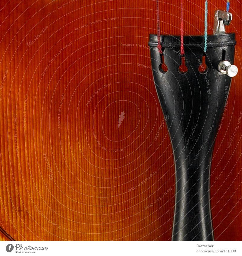 Musikliebhaber schön schwarz orange Konzentration edel fein Musikinstrument Geige Lack Holz Klassik Cello Ebenholz