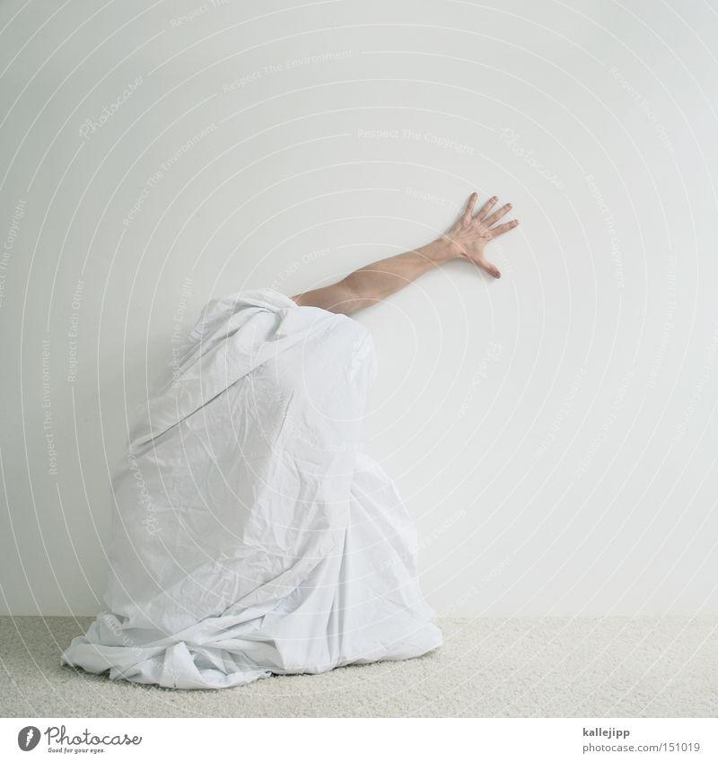 five Mensch Mann Hand weiß Arme Finger verrückt Stoff 5 skurril Tuch Versteck Körperteile