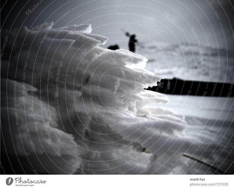 Schnee Struktur Tour Winter Ferien & Urlaub & Reisen kalt Eis Wind Bodenbelag Skier hart