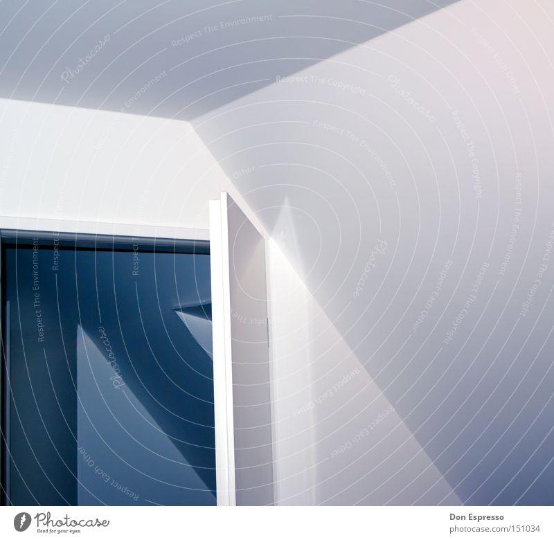 Up In My Room Häusliches Leben Raum Tür Linie Pfeil einfach blau Wand Durchgang Grafik u. Illustration graphisch Beleuchtung simpel Detailaufnahme Licht