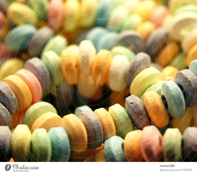 Zuckerketten - Freude für die Beißerchen. Kindheit mehrere süß viele mehrfarbig lecker Süßwaren Sammlung Kette Zahnarzt ungesund Weihnachtsmarkt