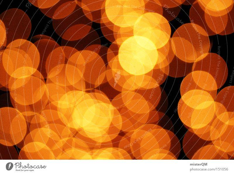 Golden Eye - Weihnachten ist zum Lichteln da. Unschärfe Kreis abstrakt retro Zauberei u. Magie glänzend Kunst besinnlich Stimmung Achtziger Jahre Kunsthandwerk