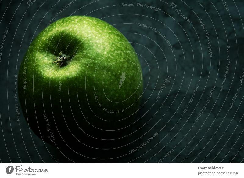 grüner Apfel Frucht Geschmackssinn geschmackvoll saftig köstlich