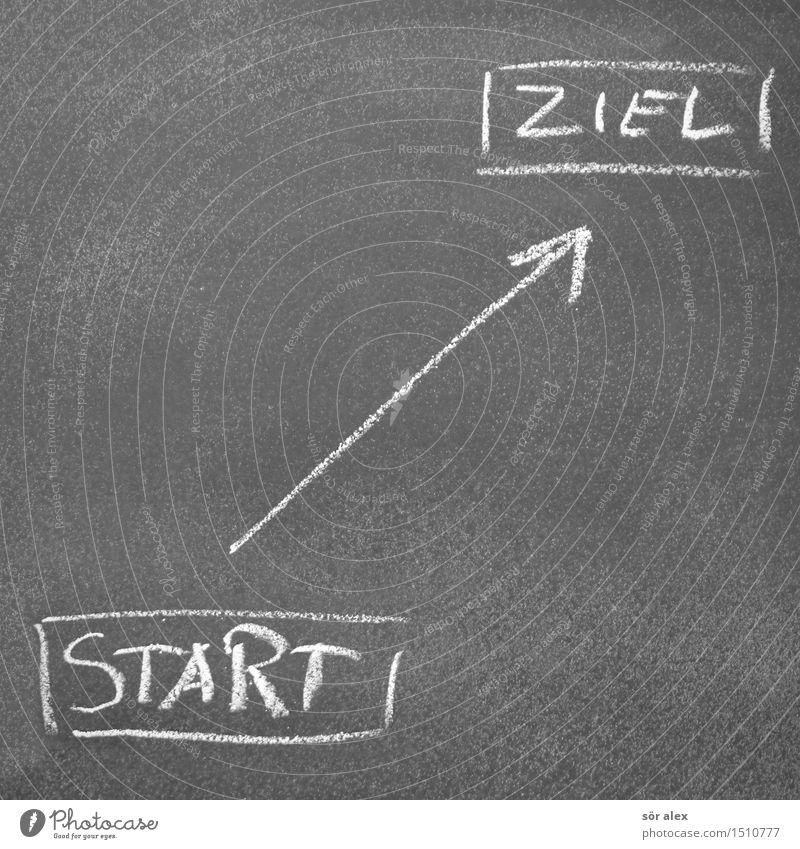 straight ahead sprechen Business Wachstum Kraft Schriftzeichen Erfolg Beginn Zukunft lernen Fitness Zeichen planen Wandel & Veränderung Ziel Bildung Pfeil