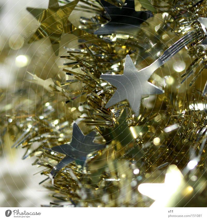 Sternchen glänzend Weihnachten & Advent Dekoration & Verzierung schimmern Feste & Feiern Stern von Bethlehem Winter gold silber Lampe Stern (Symbol)