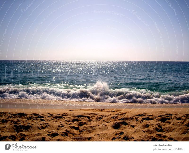 anaoj arap - ou cuando o mar fala Himmel Meer blau Sommer Freude Strand Sand Kraft Küste Wellen nass Horizont Geschwindigkeit Aktion Portugal