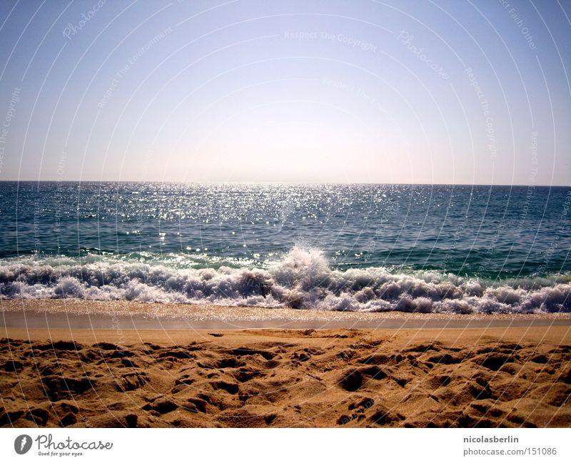 anaoj arap - ou cuando o mar fala Strand Meer Sand Wellen Himmel nass Aktion blau Schaum Horizont Schrecken Geschwindigkeit Sommer Portugal Alentejo Freude