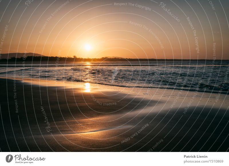 Gold Coast Himmel Ferien & Urlaub & Reisen schön Sommer Sonne Meer Erholung Landschaft Strand Wärme Küste Sand Horizont Wellen Idylle Insel