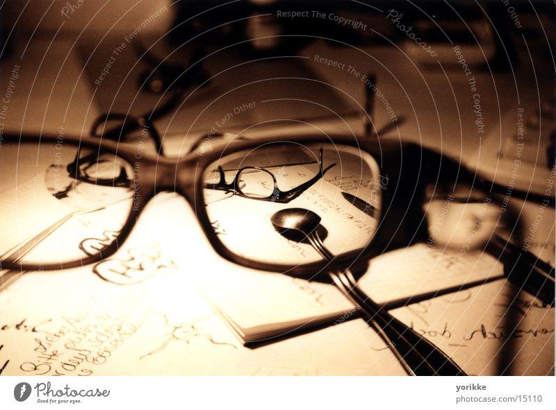 brille02 Blatt Brille Löffel Besteck